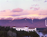 Light from Setting Sun on Presidential Range and Mt. Washington Hotel, Bretton Woods, Carroll, NH