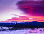 Predawn over Presidential Range in Winter, Bretton Woods, White Mountains, Carroll, NH