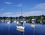 Sailboats in Calm, Barrington River, Barrington, RI
