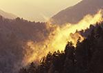 Backlit Mountain Smoke