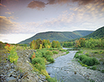 Scoharie Creek and Hunter Mountain Ski Slopes, Catskills