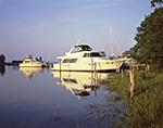Power Boats at Island Boatyard, Menantic Creek and West Neck Harbor, Long Island