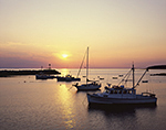 Sunset over Boats in Criehaven Harbor, Ragged Island