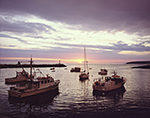 Boats in Criehaven Harbor at Sunset, Ragged Island