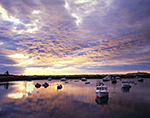 Sunrise over Boats in Calm Water of Matinicus Harbor, Matinicus Island