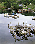 Lobster Boats and Old Abandoned Pier in Lunt Harbor, Long Island
