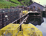 Lobster Traps on Pier in Lunt Harbor, Long Island
