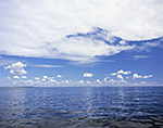 Cumulus Clouds over Gulf of Maine, Atlantic Ocean