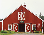 Close-up of Red Barn at Hickory Hill Farm, Mt. Desert Island