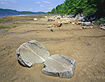 Split Rock on Shoreline of Quabbin Reservoir