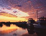 Predawn over Boats at Dock in Montauk Harbor, Montauk Yacht Club, Star Island, Long Island, Village of Montauk, East Hampton, NY