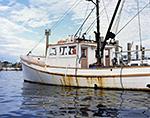 Old Wooden Fishing Trawler (Joanne Marie) in Montauk Harbor, Long Island, Village of Montauk, East Hampton, NY