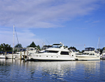 Motor Cruisers at Dock, Brewers Yacht Yard, Stirling Harbor, Long Island, Village of Greenport