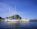 Sailboats and Motor Yachts at Brewers Yacht Yard, Stirling Harbor, Long Island, Village of Greenport