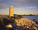 Avery Point Lighthouse and Shoreline in Late Evening Light,  University of Connecticut