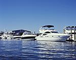 Motor Yachts at Dock, Norwalk Harbor
