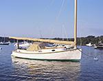 Catboat in Lake Tashmoo, Martha's Vineyard