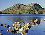 The Bubbles in Fall from Shoreline of Jordan Pond, Acadia National Park, Mt. Desert Island