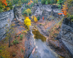 Gorge at Taughannock Falls State Park, Finger Lakes Region, Ulysses, NY