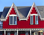 Close-up of Red and White Gingerbread House, Oak Bluffs