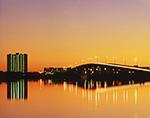 Predawn Skyline near Daytona Beach, Port Orange Bridge and Halifax River, Intracoastal Waterway