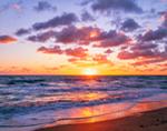 Sunrise over Atlantic Ocean at Pepper Beach, Pepper Beach State Park