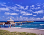 Juno Beach Park Pier with Cupola, Atlantic Ocean
