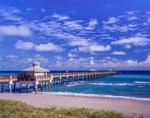 Juno Beach Park Pier with Cupola, Atlantic Ocean