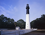 Hunting Island Lighthouse with White Picket Fence, Registered National Historic Landmark, Hunting Island State Park