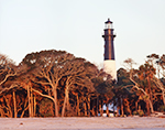 Hunting Island Lighthouse at First Light, Registered National Historic Landmark, Hunting Island State Park