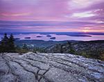 Morning View from Cadillac Mountain of Bar Harbor and Porcupine Islands
