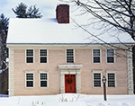 Colonial-style Home with Holiday Wreath, Historic Deerfield, Deerfield, MA
