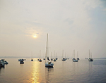 Westport Harbor and Boats in Evening Light, Westport, MA