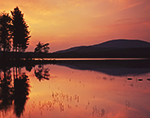 Reservoir Pond and Lamberts Ridge at Sunset, Lyme, NH