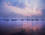 Sailboats in Dramatic Morning Light, Westport Harbor, Westport, MA