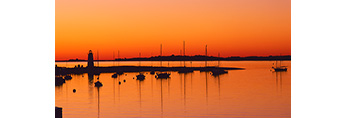 Edgartown Harbor and Lighthouse at Predawn, Martha's Vineyard, MA