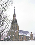 St. Barnabas Episopal Church in Snowstorm, Cape Cod, Falmouth, MA