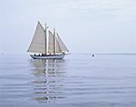"""The Schooner """"Olad"""" Leaving Camden Harbor, West Penobscot Bay, Camden, ME"""