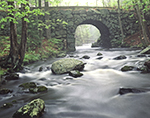 Keystone Bridge with Middle Branch Swift River in Freshet, Quabbin Reservation, New Salem, MA