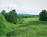 Vermont's Rolling Farm Lands in Summer, Thetford, Vermont