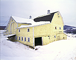 Old Yellow Barn in Winter, Catskills Region, Roxbury, NY