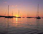Hinckley Sailboats at Sunrise, Southwest Harbor, ME