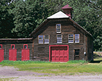 Old Colonial-style Barn with Red Doors, Windsor, VT
