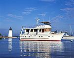 Cruiser and Goat Island Lighthouse, Newport, RI