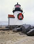Brant Point Light with Christmas Wreath, Nantucket, MA