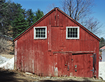 Old Red Barn with White Trim on Windows