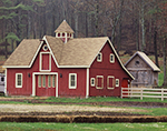 Red Horse Barn with Cupola