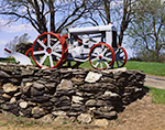 Close-up of Antique Fordson Tractor and Stonewall, Crestcroft Farm, Rutland, MA
