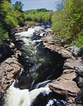 View of Rockwell Falls on Hudson River, Adirondack Park, Lake Luzerne, NY