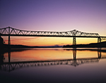 Rip Van Winkle Bridge and Hudson River at Predawn, Hudson River Valley, Greene County, Catskill, NY